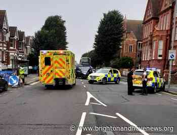 Armed police close busy Hove road - Brighton and Hove News