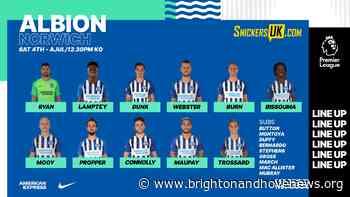 Premier League Match Day 33 – Norwich City vs Brighton & Hove Albion - Brighton and Hove News