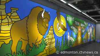 40-foot Indigenous mural unveiled at Edmonton IKEA - CTV News Edmonton