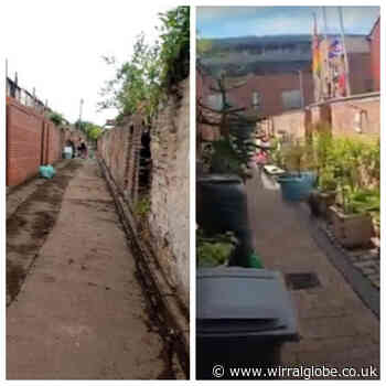 Volunteers team up for Birkenhead alleyway transformation