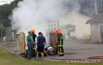 Claix (16) : une benne à papier en feu, coup dur pour les écoliers - Sud Ouest