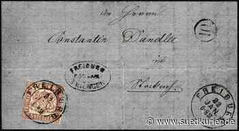 """Stockach/Wiesbaden: Briefmarke """"Stockach Provisorium"""" wechselt für 300.000 Euro den Besitzer - SÜDKURIER Online"""