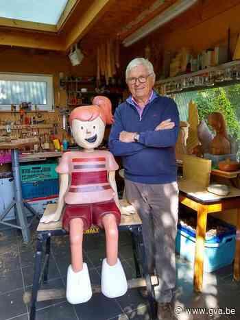 Bieke en Jef maken levensgroot houten beeld: het Pagaddermeisje - Gazet van Antwerpen