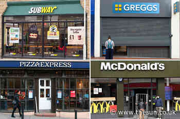 List of food chains NOT opening restaurants including Greggs and McDonald's - The Sun