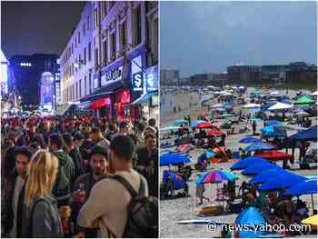 Fourth of July: fears of the coronavirus second wave did not prevent revelers in the US and UK hitting the beaches and the bars