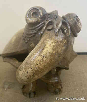 An Interesting Antique Pottery Mythical Beast Monster
