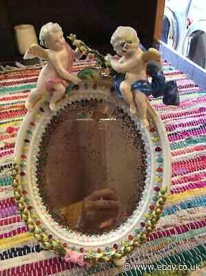 Antique Vintage Porceline Mirror