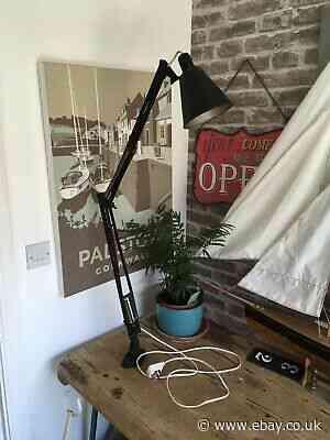 Vintage Herbert Terry anglepoise 1209 workbench lamp
