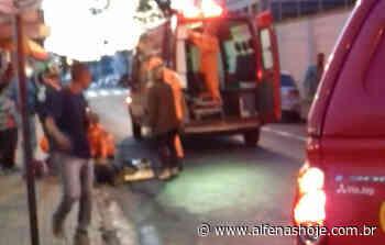 Motociclista fica ferido em acidente no centro de Alfenas - Alfenas Hoje