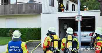 In Göggingen und Alfdorf: Feuerwehren verhindern bei zwei Bränden Schlimmeres - Rems-Zeitung