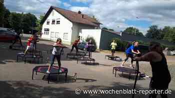 Sommerbiathleten probieren Jumping Fitness aus - Ramstein-Miesenbach - Wochenblatt-Reporter