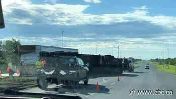Semi overturns in Regina, restricts traffic on Arcola Avenue