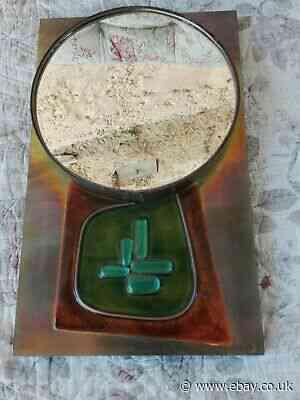 Antique Mirror Space Age Vintage Years 70 Decoration Resin Plastic