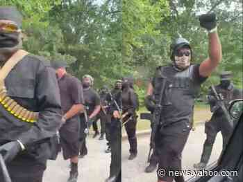 'Black power, Black love': Video shows heavily armed Black protesters marching through Georgia's Stone Mountain Park demanding a huge Confederate carving be removed