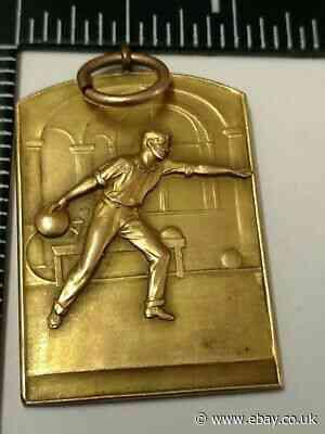 Vintage 1934 Poor Richard Bowling League Medal