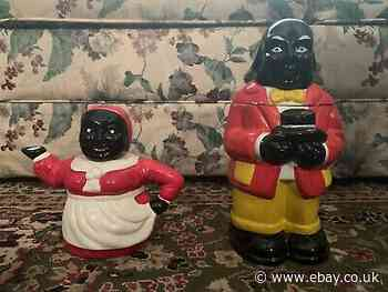 Vintage   'Mammy' Ceramic Tea Pot  And  Uncle Cookie Jar