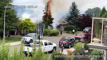 Illegal yard fire nearly spreads to Courtenay house - CTV News VI