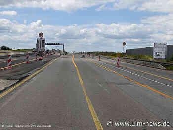 Halbzeit beim Bau der Doppelausfahrt an Autobahnanschlussstelle Ulm-West