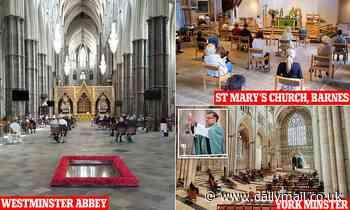 Churches across England throw their doors open for public Sunday services