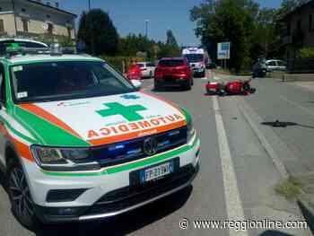 Vezzano: motociclista ferito dopo aver tamponato un'auto, code sulla Statale 63. FOTO - Reggionline