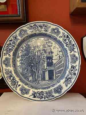 Rare 1931 Wedgwood Old Chapel Yale 1824 - 1896 Collectors Plate