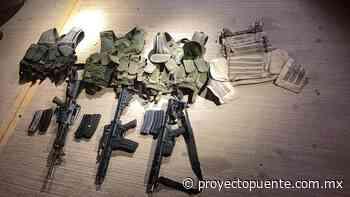 Aseguran arsenal, 5 personas y abaten a presunto sicario en Caborca - Proyecto Puente