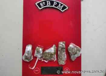 Nova Andradina - Jovem monitorado por tornozeleira eletrônica é preso por tráfico de drogas - Nova News - Nova News