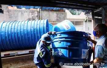 Sabesp entrega 49 caixas d'água para população de Diadema - ABCdoABC