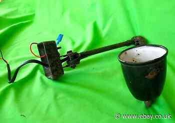 Small sized mid century EDL industrial machinists angle poise light lamp