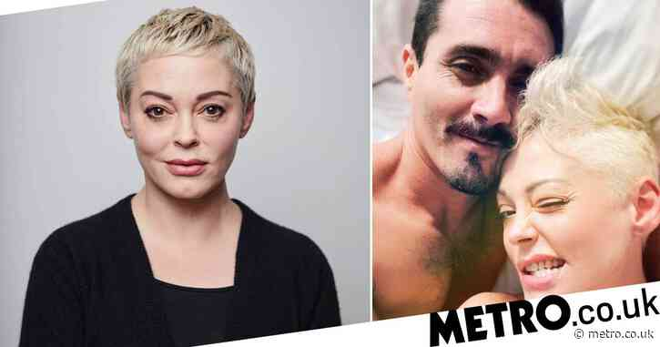 Rose McGowan shares selfie with mystery man from her bed in Mexico