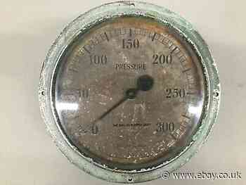 Vintage large pressure gauge 300lb/in2 - English Electric Company Railway ?