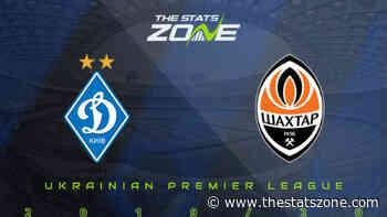 2019-20 Ukrainian Premier League – Dynamo Kyiv vs Shakhtar Donetsk Preview & Prediction - The Stats Zone