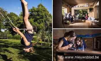 Ans en Michel ruilden hun huis met ministadstuintje in voor een kinderparadijs met boomhut, moestuin en poel - Het Nieuwsblad