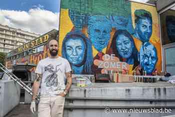 Graffiti Spillebad toont gezichten VTM-programma 'De Zomer Van' - Het Nieuwsblad
