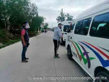 Supervisan sanidad en paraderos de Mixquiahuala - Independiente de Hidalgo