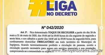 Itapipoca adota toque de recolher e restrição a circulação de veículos - Flavio Pinto