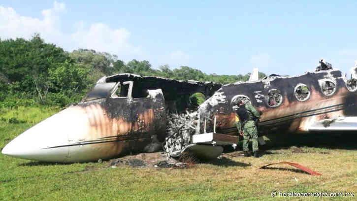 Sedena halla aeronave calcinada en pista clandestina en Mapastepec, Chiapas - El Heraldo de México