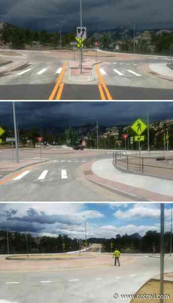 US 34 and MacGregor Ave Roundabout In Estes Park Opens Early - Estes Park Trail-Gazette