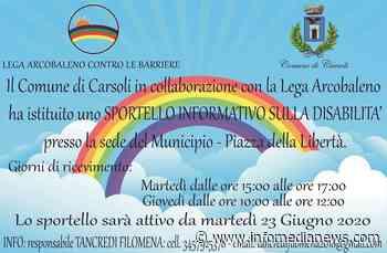 Sportello disabilità, la collaborazione tra Carsoli e Lega Arcobaleno - Info Media News