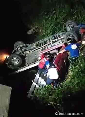 Dos heridos en volcadura de camioneta en Huejutla, Hidalgo. - Noticias de Texcoco