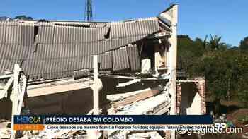 Prédio que desabou e deixou cinco feridos em Colombo tinha obra com escavação ao lado - G1