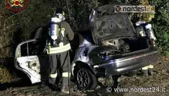 Pordenone. Si schianta, l'auto si incendia: esce appena in tempo - Nordest24.it