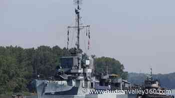 World War II destroyer USS Slater sails down the Hudson - Hudson Valley 360