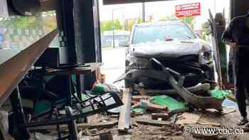Car smashes into north Edmonton pho restaurant