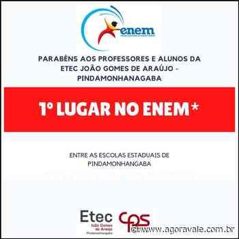 Etec Pindamonhangaba ocupa o 1º lugar do Enem entre as estaduais do município - AgoraVale