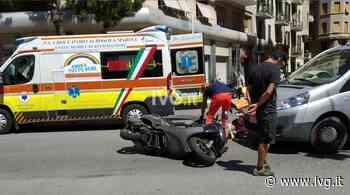Savona, scontro tra un'auto e uno scooter in corso Tardy e Benech - IVG.it