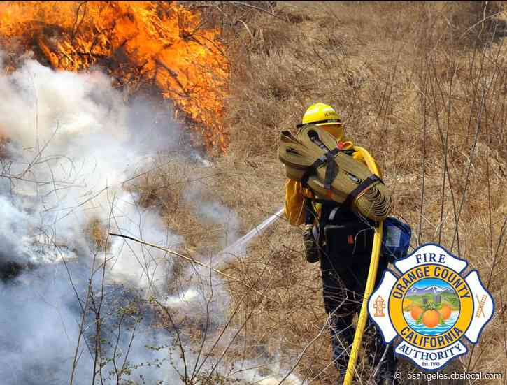 21-Acre Brush Fire Burns Inside Irvine Regional Park, No Injuries Reported