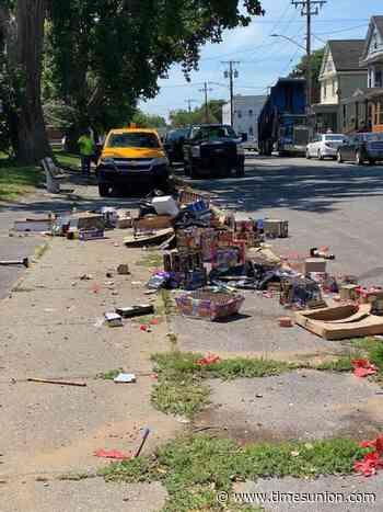 After informal July 4 fireworks, Albany crews clean up debris
