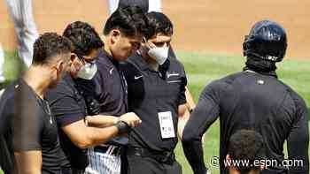 Tanaka back at Yankee Stadium day after injury