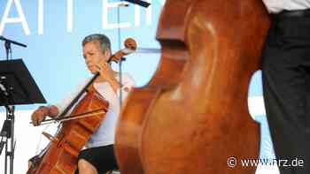 Orchester in Corona-Besetzung bei der Laga in Kamp-Lintfort - NRZ